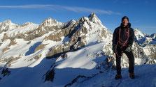 Gérard au sommet du Pic d'Arsine...
