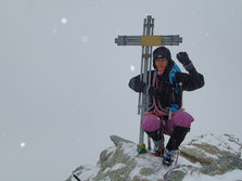 Sommet hivernal pour Nathalie