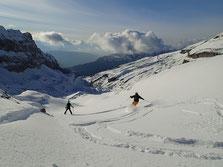 Beau ski pour Jessica et Nyl à Bostan