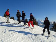 A Chamossière, sur fond de Mont-Blanc