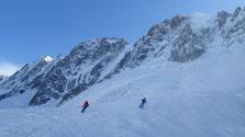 Cadre majestueux sur le Glacier des Rognons, du coté des Grands Montets