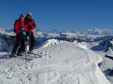 Au Col 1781 m de la Haute-Pointe, arête S-E. Et quelle vue sur le Mont-Blanc!