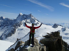 Yann au sommet de la Pointe Lachenal