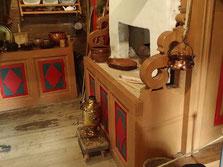 Küche im Malye Korely Freilichtmuseum