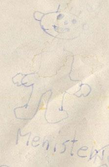 Anno 1997 hab ich meine Werke noch illustriert. Hier der Menister.