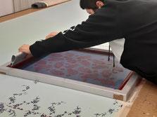 Siebdruckerei Siebdruckschablone Handdruck