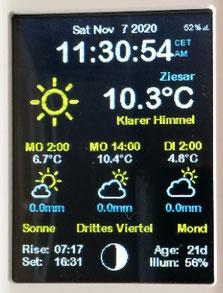 ESP32 ESP8266 Nodemcu touch ILI9341 wetterstation