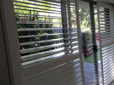 Plantation Shutters  in Sliding Door