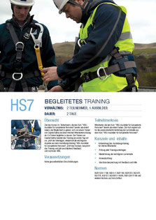 HS 7 Kurs Capital Safety Begleitetes Training