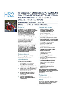 HS2 Kurs Höhensicherheitstraining Capital Safety