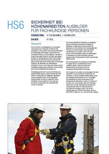 HS 6 Kurs Capital Safety - Ausbilder