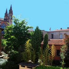 Le jardin dans Toulouse