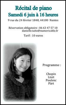 Concert de salon Nantes Shiho Narushima