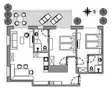 Apartement Tschima - floor plan