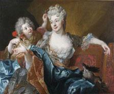 Nicolas de Largillière, Portrait de dame avec son fils, Photo RMN