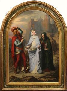 Claudius Lavergne (1818-1887), Sainte Elisabeth, dit Le Miracle des Roses, 1845,  Huile sur toile, 174 x 108 cm  / Crédits : Musée des Beaux-Arts, Lyon
