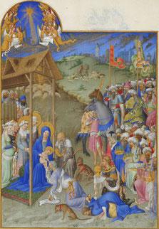 Les Très Riches Heures du duc de Berry, ms.65, folio 52r, vers 1411-1416, musée Condé, Chantilly / photo Wikipédia
