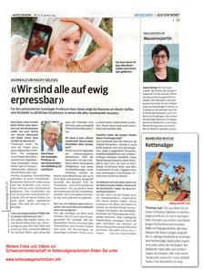 Kettensägenschnitzen: Sieger Thomas Jud Maag-isch Foto