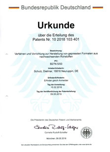 Patent Urkunde
