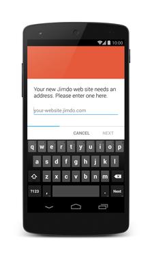 New Jimdo image uploader