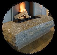 Ofen aus Naturstein