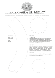 Bastelanleitung Muffin Wrap