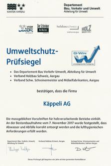 Bild: G-Win Umweltschutz-Prüfsiegel