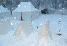Winterbiwak der Lichtensteiner Kanoniere