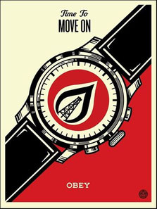 Shepard Fairey Time to move on, 2015