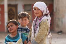 イラク北部アークレー難民キャンプの子供達