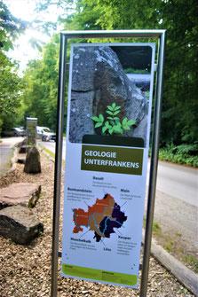 Der Geologiepfad neben dem Walderlebnispfad Sinneswandeln im Gramschatzer Wald