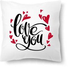 Kissen mit Aufdruck Love you