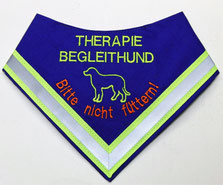 Therapie Begleithund Kenndecke / Halstuch / Nicht füttern