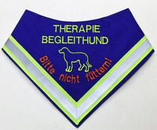 halsduk terapihund,Therapie Begleithund Kenndecke / Halstuch / Nicht füttern