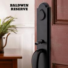 Baldwin's Reserve portfolio of distinctive handlesets, leversets and deadbolts
