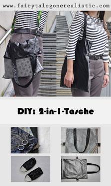 DIY 2-in-1-Tasche Nähanleitungen DIY-Anleitung Nähen Nähblog Nähtipps