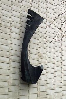 Skulptur, Kunstwerk, Polizeigebäude, Dudweiler, Beethovenstraße