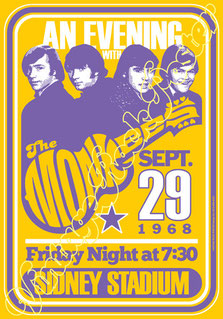 the monkees, poster , vintage rock poster, monkees poster