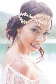 Braut, Make-Up, schöne Braut