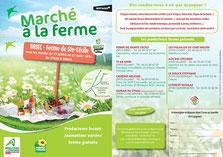 Flyer Marchés à la Ferme Ste Cécile avec liste des producteurs