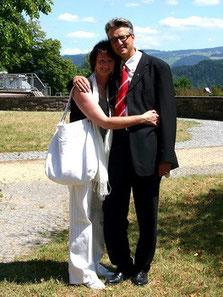 Mit Ehefrau Roswitha auf Maria-Lindenberg