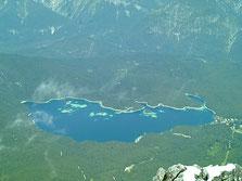 der Eibsee von der Zugspitze aus