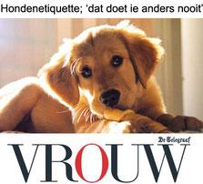 Gonnie Klein Rouweler columnist VROUW Telegraaf Hondenetiquette