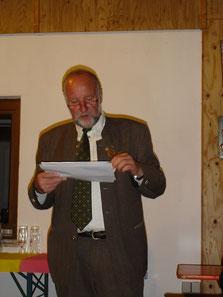 1. Schützenmeister Reinhold Buczek