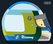 Helmet of Biografía de Chanoch Nissany en F1 by Muneta & Cerracín