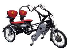Van Raam Fun2Go Tandem-Dreirad Elektro-Dreirad Beratung, Probefahrt und kaufen in Karlsruhe