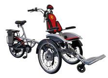 Van Raam O-Pair Rollstuhl-Dreirad Elektro-Dreirad Beratung, Probefahrt und kaufen in Pfau-Tec Scootertrike Sessel-Dreirad Elektro-Dreirad Beratung, Probefahrt und kaufen in Tönisvorst