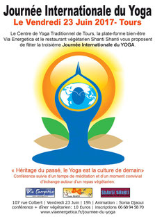 conference de sonia djaoui pour la journee international du yoga - centre de yoga traditionnel de tours