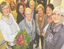 Von links nach rechts: Agnes Römer, Dr. Christine Kunert, Hilder Kampmann, Dr. Helmut Francke, Ingrid Schmidt-Schwabe, Regina Becker, Ursula Henneken (Foto: Petra Ihm-Fahle)