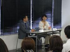 NHKチーフプロデューサー松川博敬さんと日本大学芸術学部教授・中町綾子さん